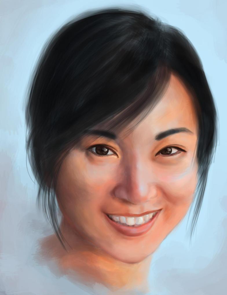 self portrait by Amaranthia