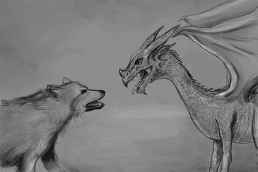 direwolf vs. dragon