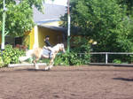 In full gallop I