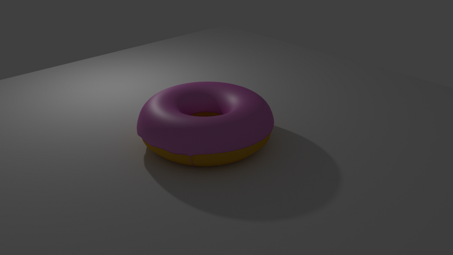 CG Donut (Blender) by The-Ray3000