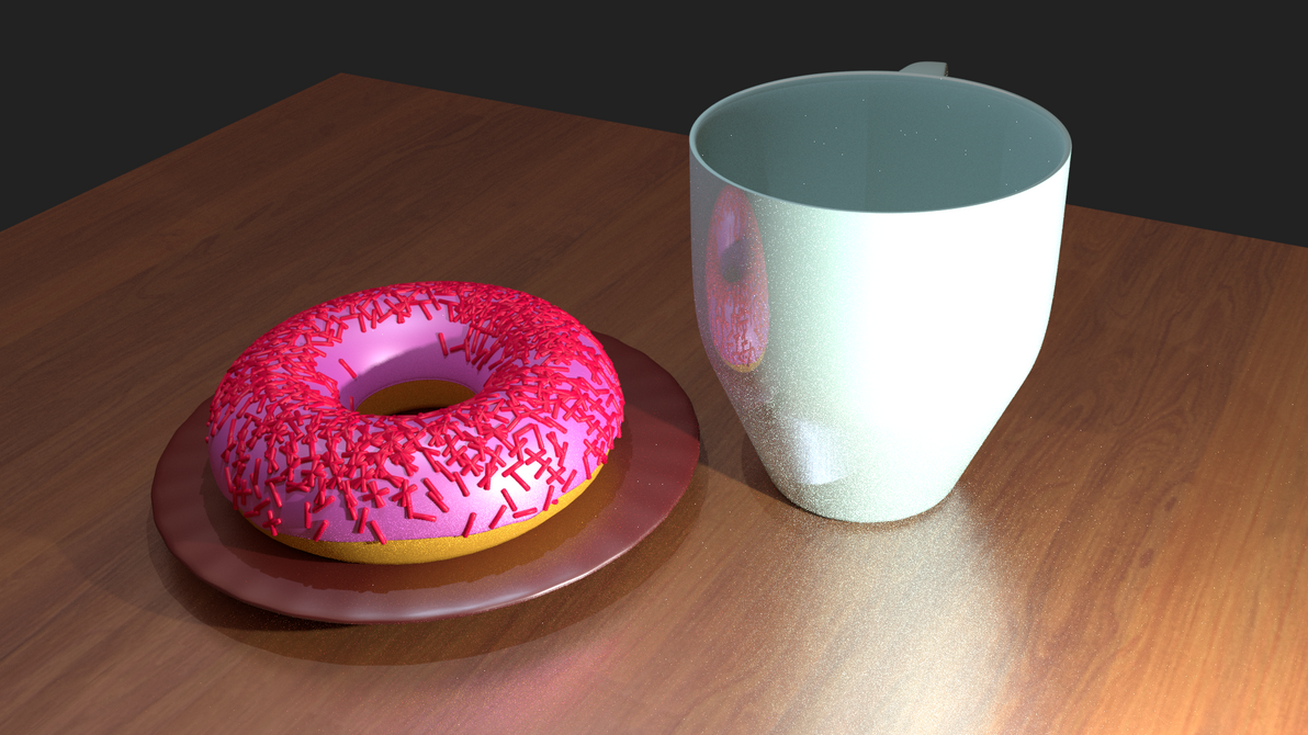 Donut and Mug (Blender) (NO BACKGROUND) by The-Ray3000