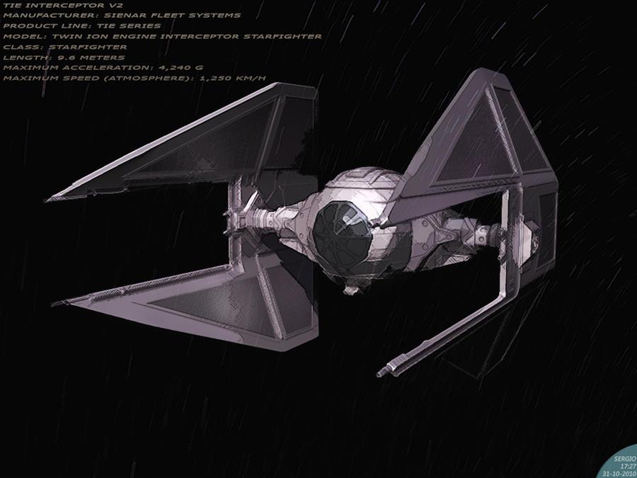 Tie Interceptor by sergiosoares