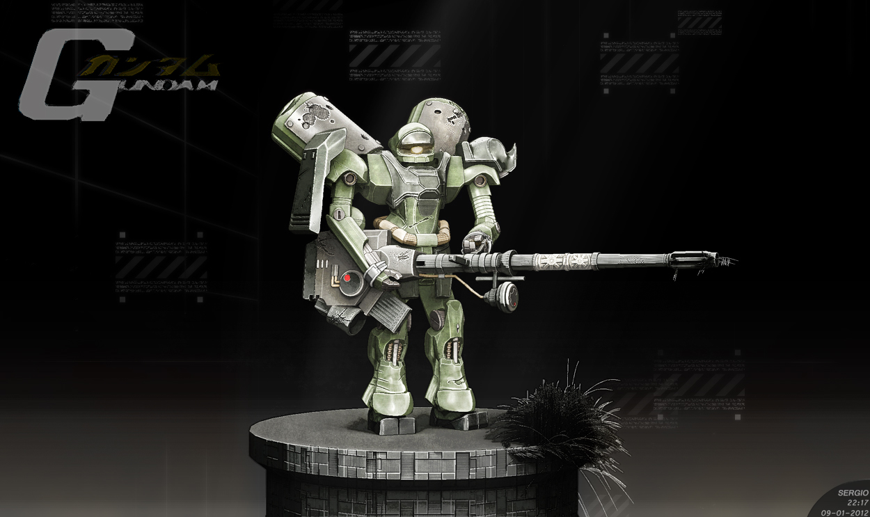 GUNDAM: Geara Doga Prototype by sergiosoares