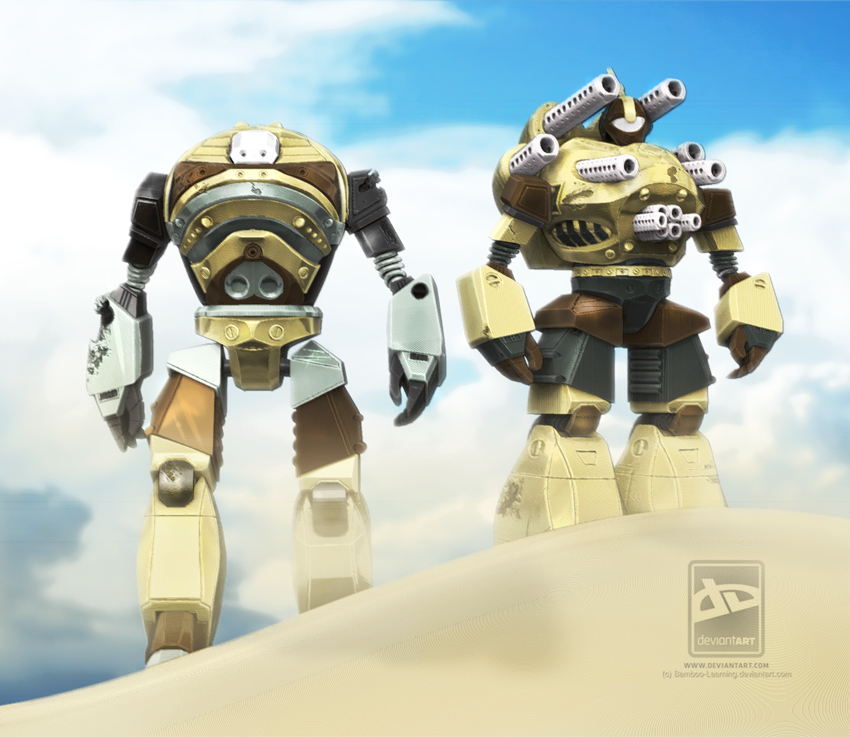 Mecha Duo by sergiosoares