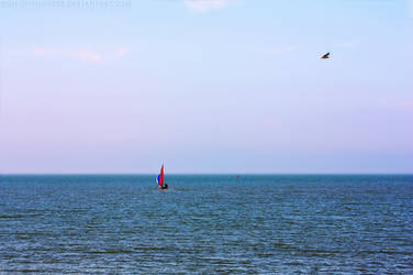 Red Sail, Blue Skies by Thundermark