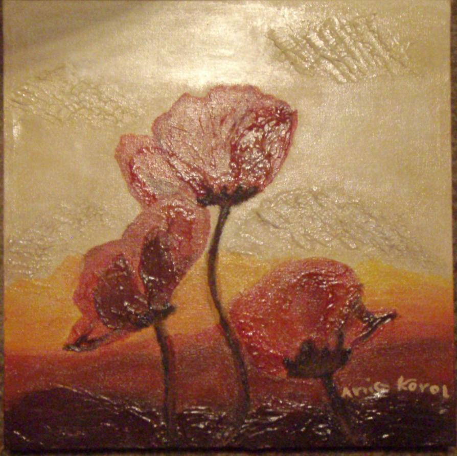 Second Painting: Flowers :D by Izukia