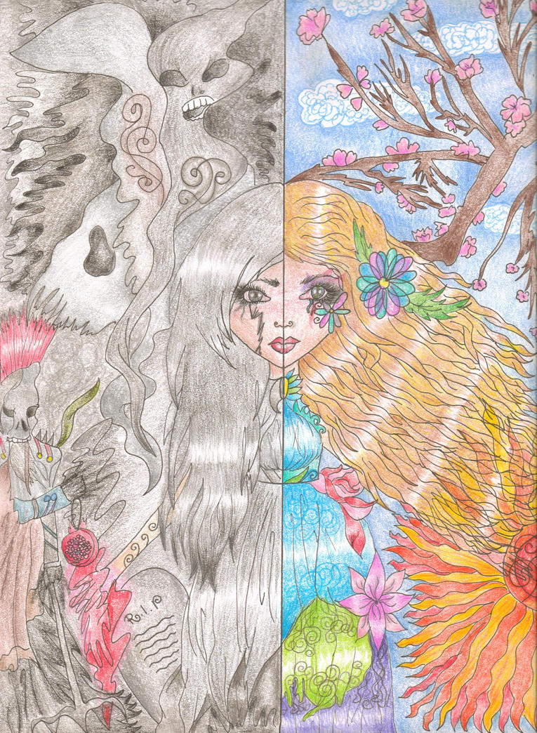 The two faces of Persephone by Izukia