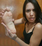girl with foot