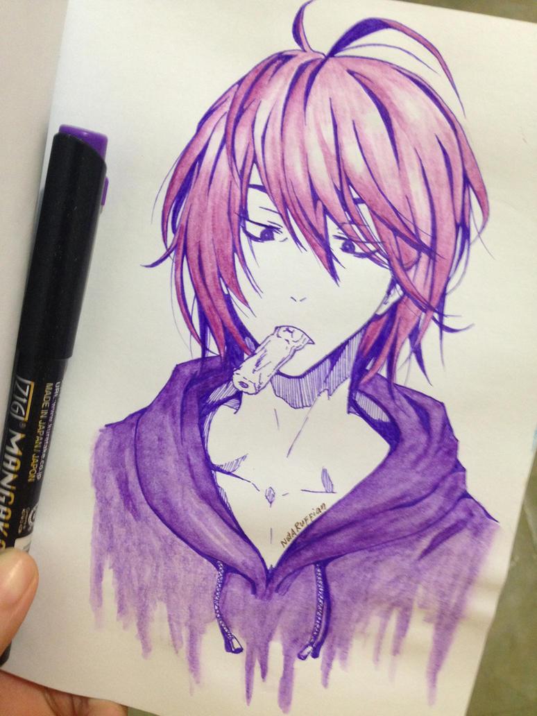 purple only mukkun by haemith on deviantart
