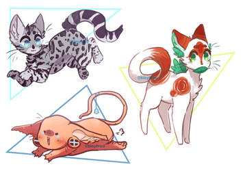 kitty doodles YCH/OTA || CLOSED