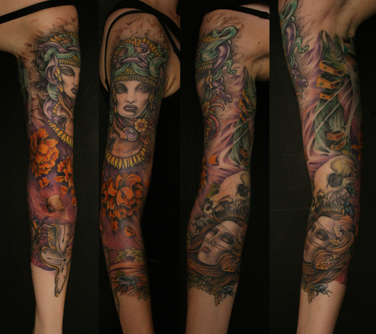 Mother nature sleeve tattoo