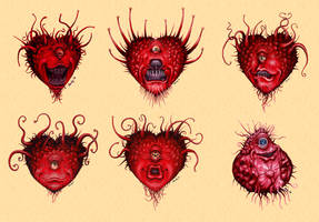 Heart-shaped beholders