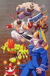 SF VS DARKSTALKERS contest 2nd entry colored