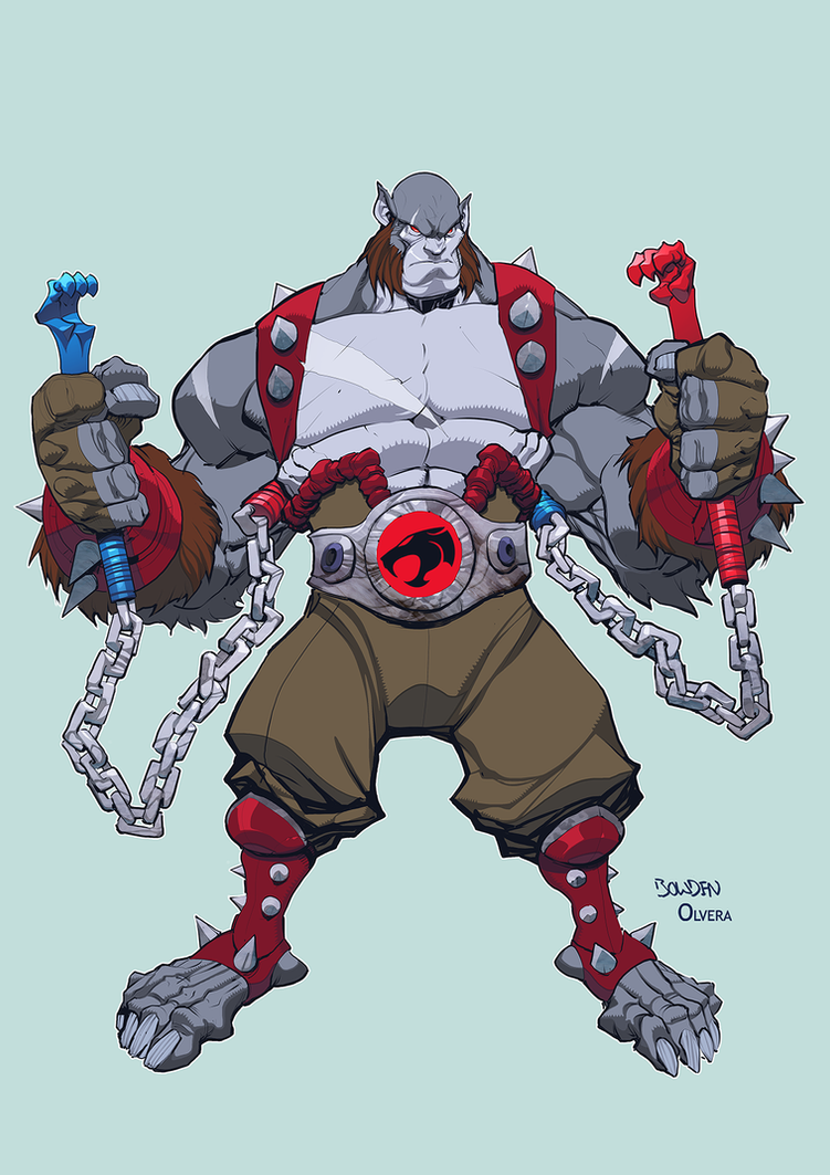 Panthro by Mike Bowden anime coloring by DanOlvera