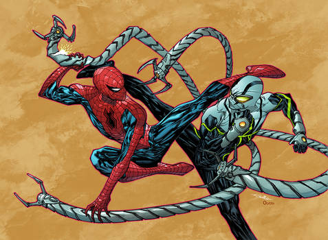 Spidey versus Doc Octopus by Guile Sharp