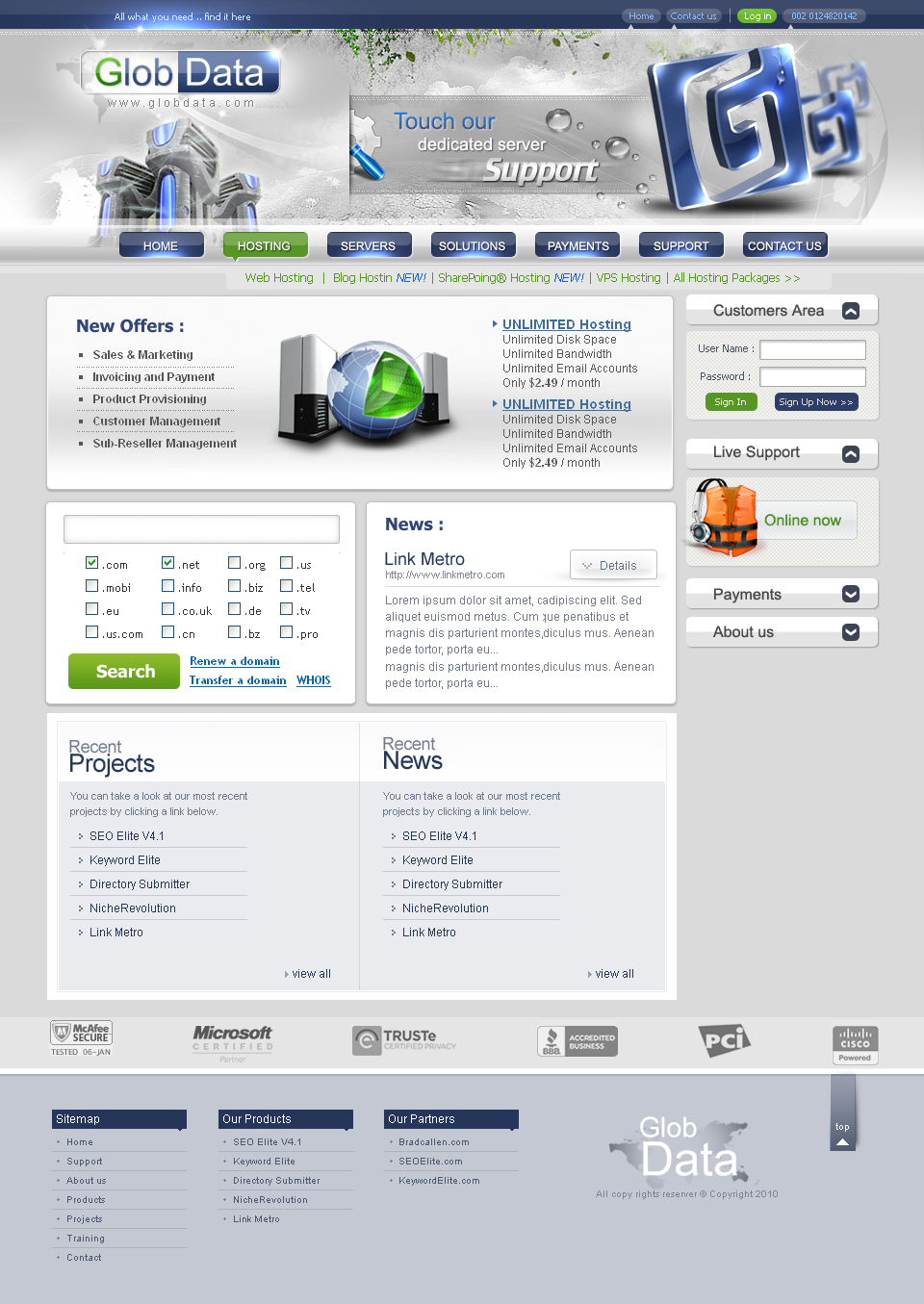 Glob-Data-website by desdoc