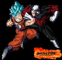 Goku Vs Jiren by GhoulFire