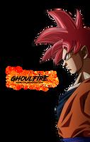 Goku Ssj Dios by GhoulFire