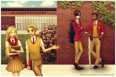 Paris High School - PotO AU by ofbeautsandbeasts