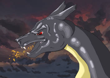 Shiny Charizard by Nicki95