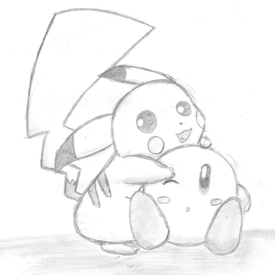 Ice Kirby Drawing Ice Kirby Drawing by