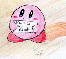 kirby , wanna be my friend ? by kirby-kta-tsuki