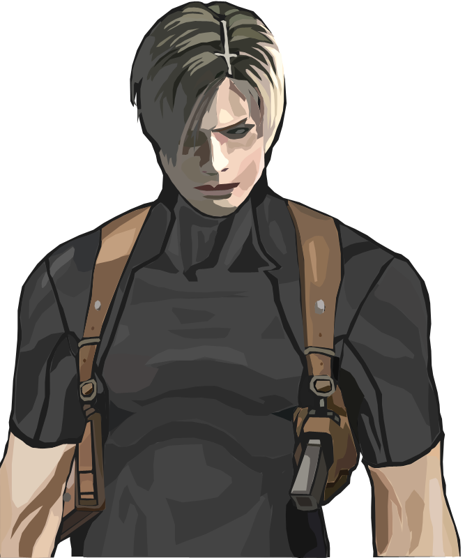 Mr. Black, Gotta add some to the title. Leon_S__Kennedy_by_Saibanchou