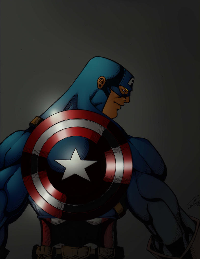captian america by roidboy