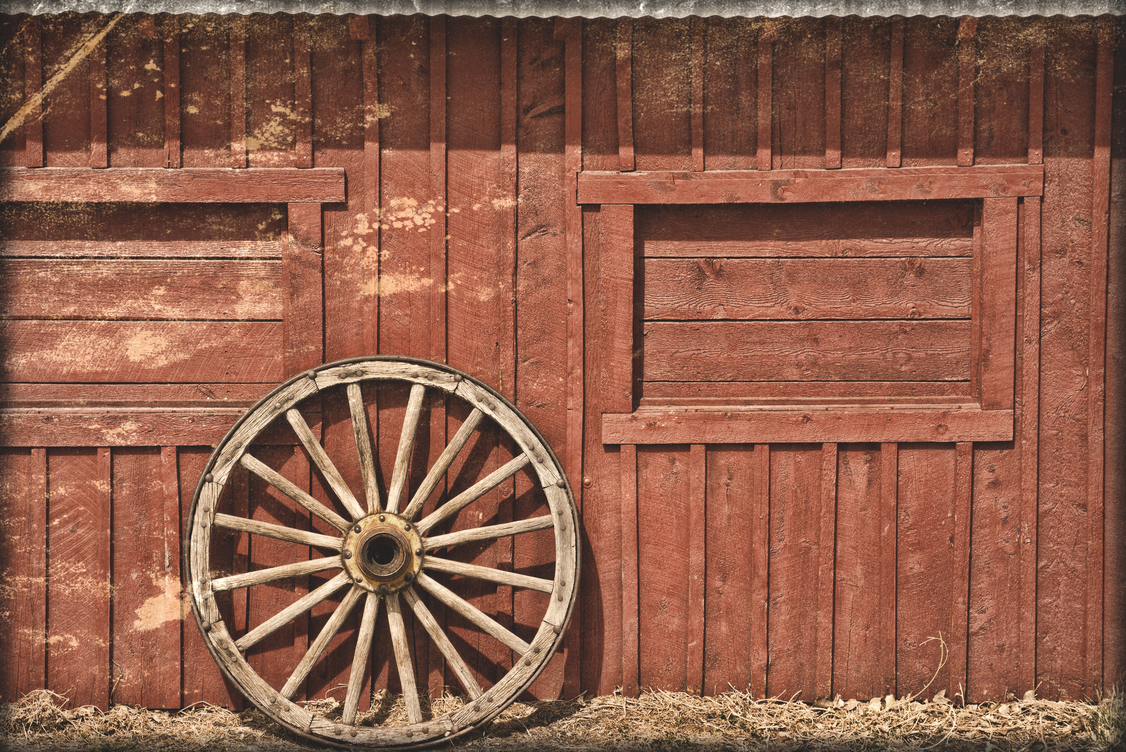Cartoon red barn doors - Red Barn And Wooden Wheel By Mudyfrog On Deviantart Hd Wide Wallpaper For Widescreen
