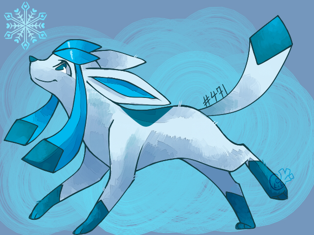 #471 Glaceon by Nyankyuu
