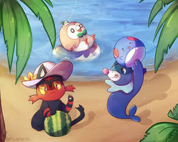 Collab: Alola Beach Party by Nyankyuu