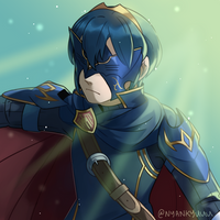 Day 12: Marth (Lucina) by Nyankyuu