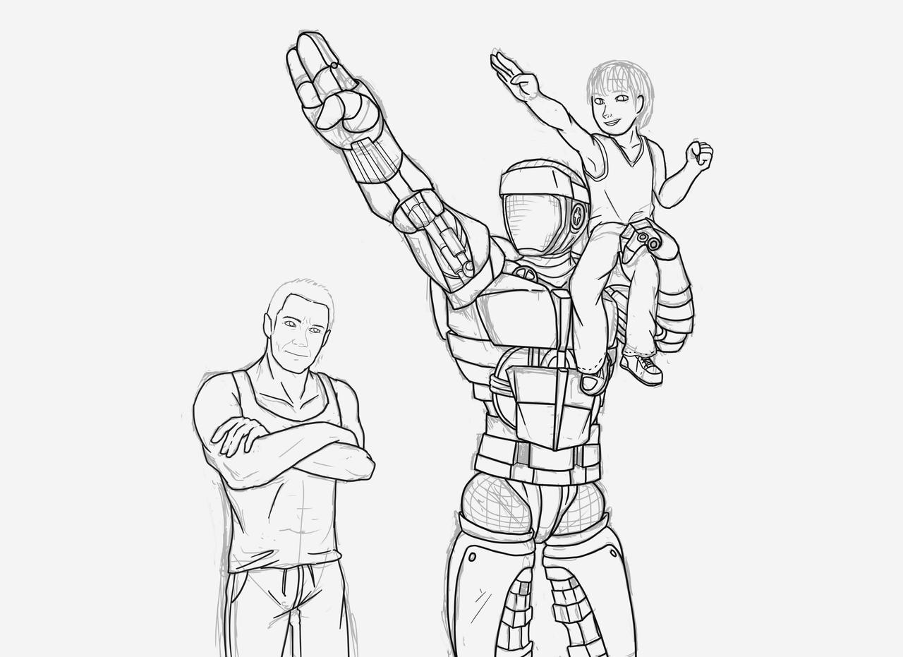 Atom real steel coloring pages the - Robot coloriage ...