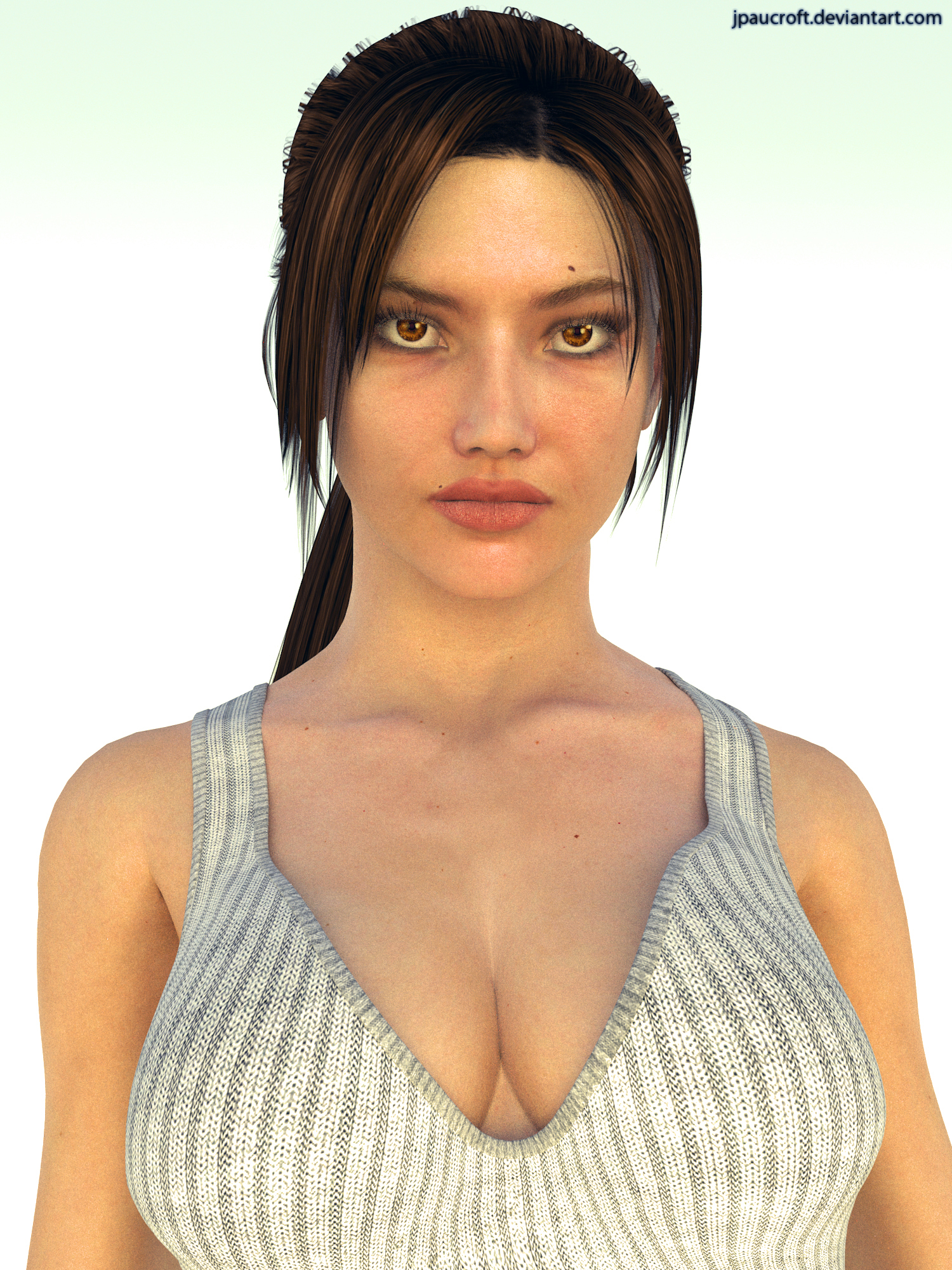 Young Lara Croft Portrait by JpauCroft