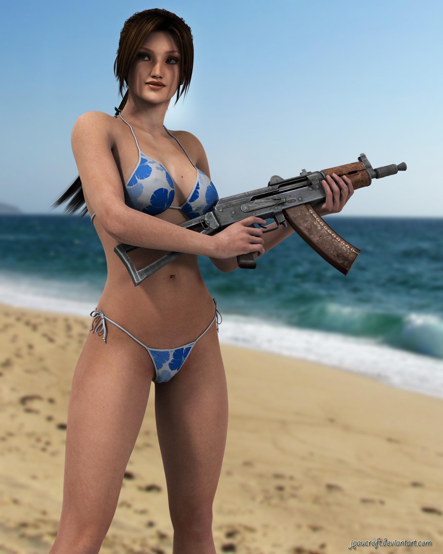 Are Lara croft in bikini pictures All