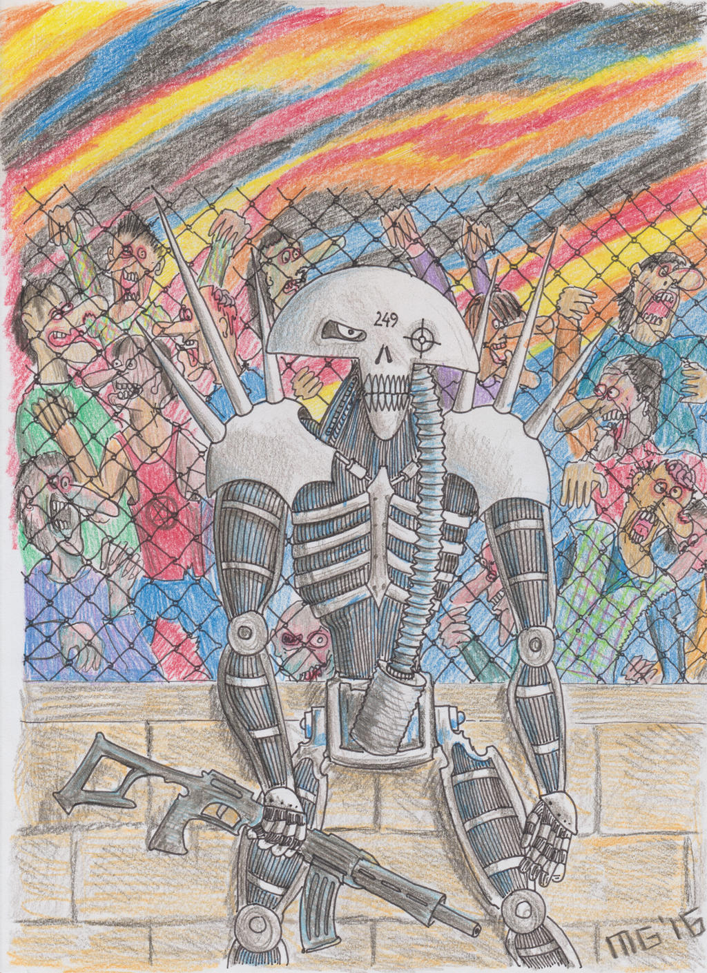 Wandall versus the Walking Dead by maikgodau666