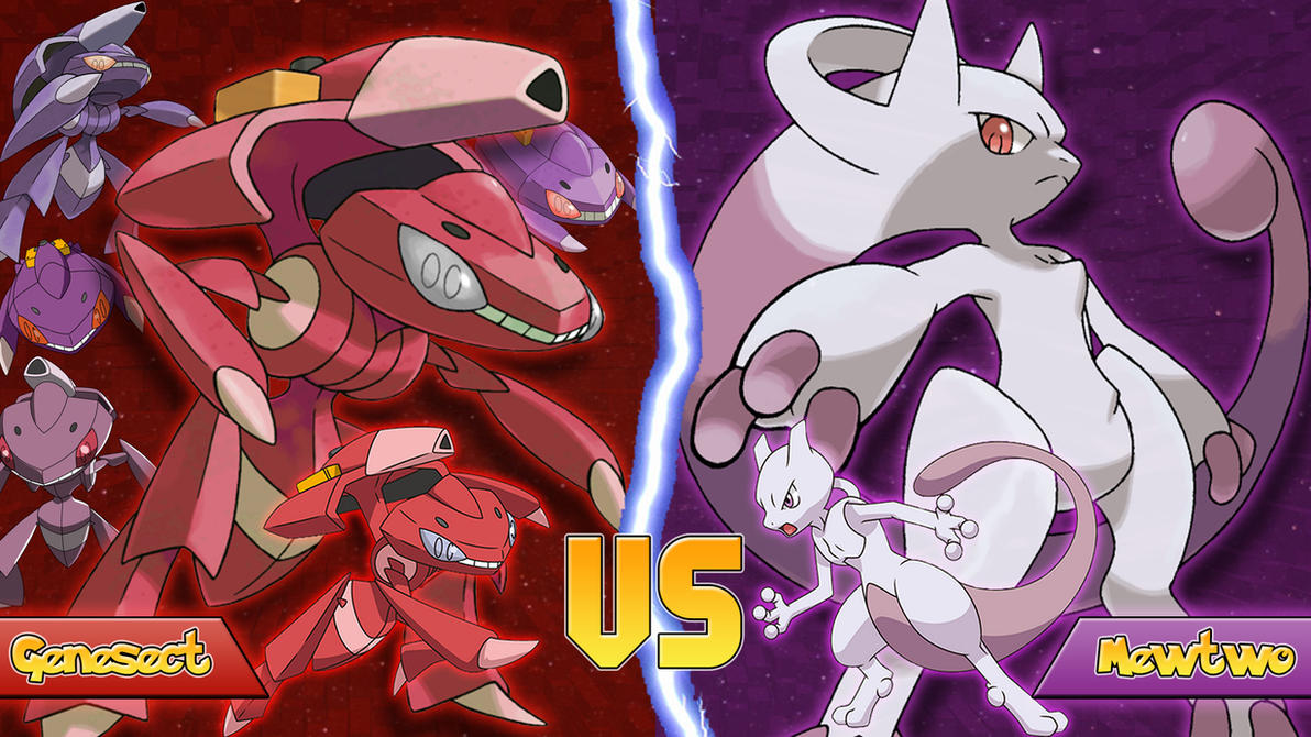 Genesect Vs Mewtwo by Monstradon on DeviantArt