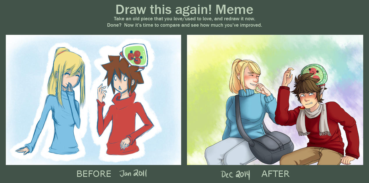 pit_and_samus_draw_this_again_meme_by_otameganegrl d89hllg pit and samus draw this again meme by otameganegrl on deviantart