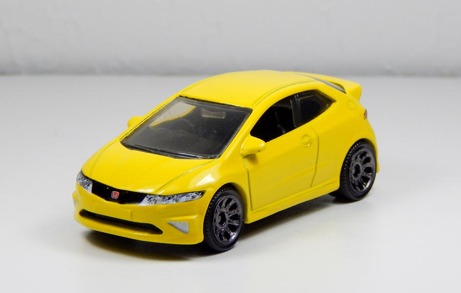 matchbox 2008 honda civic type r in yellow by firehawk73. Black Bedroom Furniture Sets. Home Design Ideas