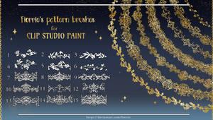 [P2U] Clip Studio Paint pattern brushes