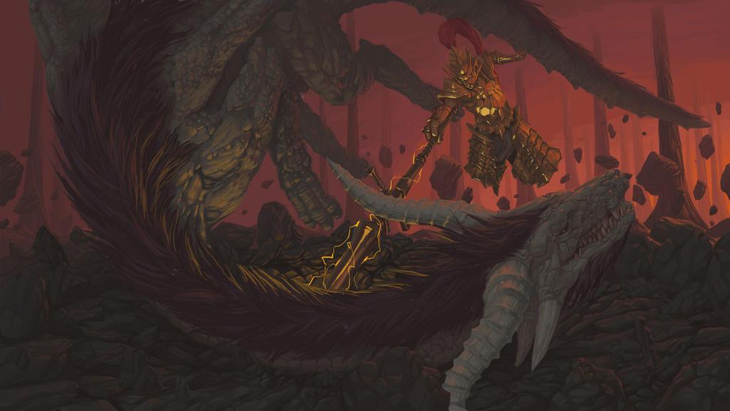 Dragon Slaying by potaski