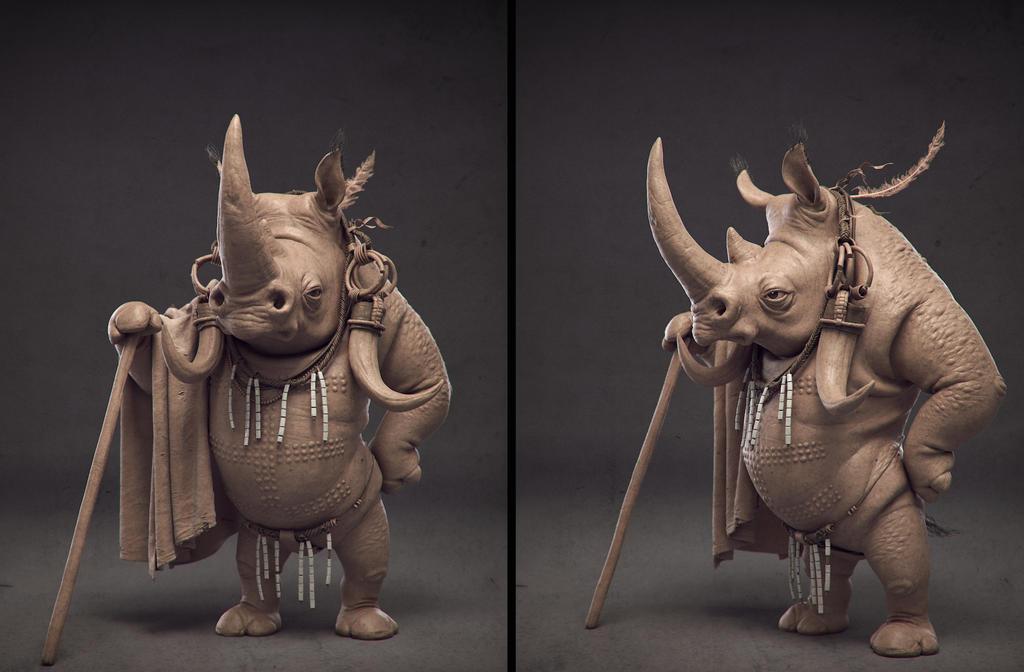Mursi rhino by Ggalero