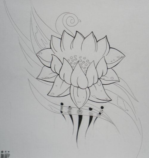 Lotus Tattoo Design ?