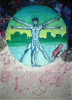 Modern Surreal Virtruvian Man