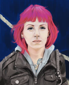Pink-haired Self Portrait