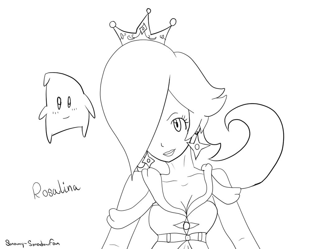 Rosalina coloring sheet by Sonamy-Sonadowfan on DeviantArt