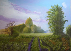 Soft pastel landscape
