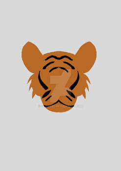 Simplified animal : Tiger