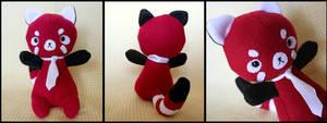 Red Panda Plushie by HezaChan