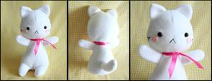 Cute White Kitten Plushie